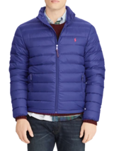 Polo Ralph Lauren Mens Quilted Down Puffer Blue Jacket XL 7203-3 - $138.38
