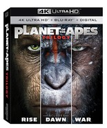 Planet of the Apes Trilogy - Rise, Dawn, War (4K Ultra HD + Blu-ray + D... - $31.95