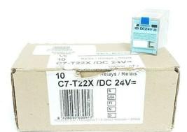 LOT OF 4 NEW RELECO C7-T22X RELAYS C7-T22X/DC 24V, C7T22X image 1