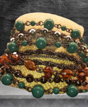 Talbots Multi-layered/color beaded acrylic bead bracelet - $12.00