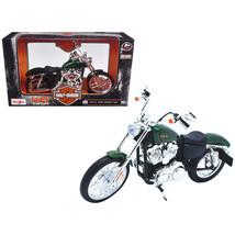 2013 Harley Davidson XL 1200V Seventy Two Green Motorcycle Model 1/12 by... - $25.89