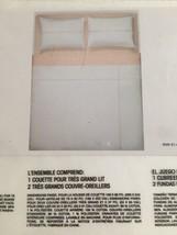 CALVIN KLEIN CALVIN 1968 PINK-WHITE 3pc KING DUVET COVER NIP  VINTAGE LO... - $139.15