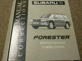 2002 Subaru Forester Service Repair Shop Manual Corrections FACTORY FEO BOOK 02 - $39.55