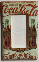 5 Cents Coke Bottles Old Poster Light Switch Outlet Wall Cover Plate Home Decor image 2