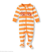Children's Place 6-9 Mths Mommy's Little Pumpkin Footed Halloween Pajamas New - $11.99
