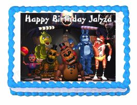 Five nights at Freddy's FNaF Edible Cake Image Cake Topper - $8.98+