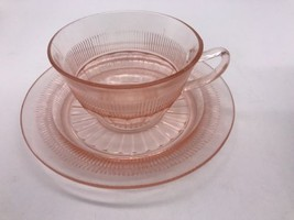 Vintage Depression Anchor Hocking Coronation Cup And Saucer (1009H) - $6.79