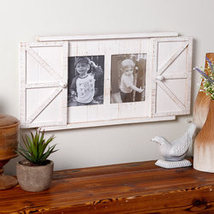 Barn Door Photo Frames- Antique White - €28,80 EUR