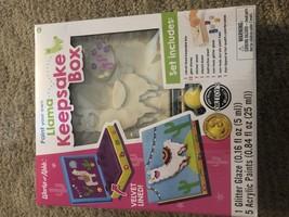 1ct Paint Your Own Llama Keepsake Box - $4.54