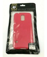 Beyond Cell Samsung Galaxy S5 Phone Case Glitter Hot Pink Rubber Plastic... - $4.94