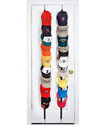 Perfect Curve CapRack18 Over-The-Door Cap Organizer, Two Straps, Holds U... - $14.99
