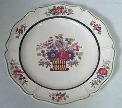 """1922 Wedgwood Etruria England Floral Basket 10"""" Dinner Plate - $27.08"""