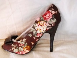 "Nib Qupid Sz 7 POLICY-03 MULTI-COLOR Floral Tapestry OPEN-TOE Pump W/4"" Heel - $14.85"