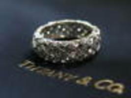 Tiffany & Co Diamond Vannerie Ring Platinum 950 2.80Ct Size 6.5 7mm - $6,054.84