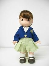 """Precious Moments 12"""" Vinyl Doll Mint & Blue School Backpack Vest Uniform... - $11.88"""