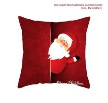 Cotton Linen Merry Christmas Cover Cushion Christmas Decor for Home - 03-7 - $12.99