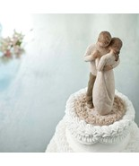 Hand-Painted Cake Topper - Sculpted - Wedding Cake Topper - Willow Tree Promise - £53.00 GBP