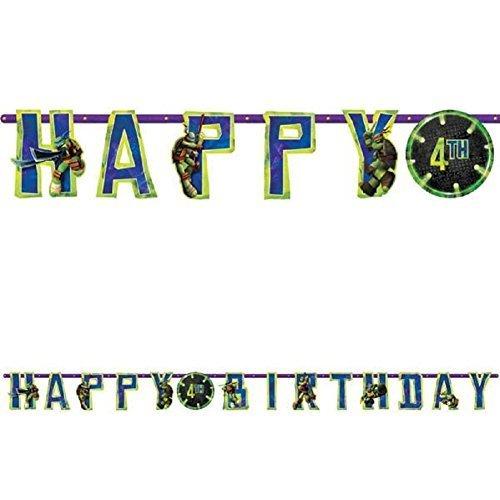 "TMNT Jumbo Add-An-Age ""Happy Birthday"" Letter Banner"