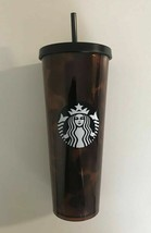 STARBUCKS 2019 COLD CUP BLACK FIRE BURNING BROWN ORANGE 24 fl oz - $49.99