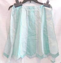 Vintage Apron, Half Hostess, mint green & gingham, Very Retro, detailed ... - $17.99