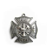 New Silver Plate Firemen Firefighter Fire Dept Charm Pendant PENDANT-OC0... - $6.95