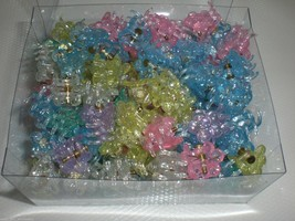 Mini STAR Shiny Pastel Cute Plastic Hair Snap Claw Styling Lot of 576 Clips NEW