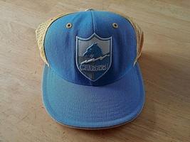 NFL/REEBOK San Diego Chargers BLUE/YELLOW Net CAP-7 3/8-100% WOOL-WORN 1-CLEAN - $15.00