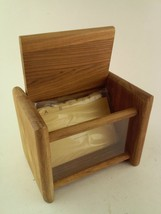 Wooden Recipe Card File Holder With Index Dividers - $38.79