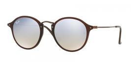 Ray Ban Flat Lenses Sunglasses RB2447N c.6256/9U Brown Bronze Silver Mir... - $112.19