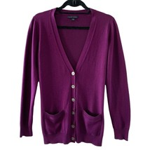 Banana Republic Womens Purple V-neck Silk Cardigan Sweater Sz M - $9.90