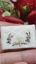 18kt White Gold Disney Stud Earrings Gift for Girls Bugs Bunny Original Looney  - $229.00