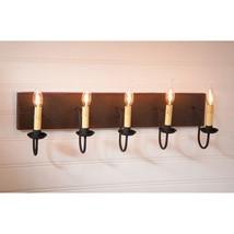 Country new 5 arm wood Vanity light /Espresso /Salem brick finish - $244.93