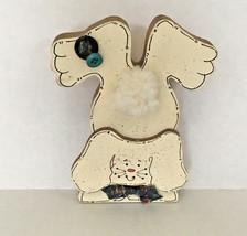wood shelve sitter bunny floppy ear rabbit shabby chic cottage farm decor  - $16.78