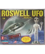 Roswell Ufo Space Ship With Alien Crew Plastic Model Kit NEW  - $158.02