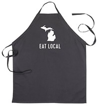 About Face Designs State of Mine-Michigan Apron Black - $26.78
