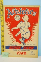 1948 Philadephia Athletics Baseball Scorecard v Tigers May 9 Scored - $44.55