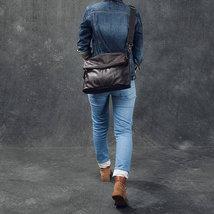 Sale, Full Grain Leather Men Shoulder Bag, Stylish Men Messenger Bag, Laptop Bag image 3