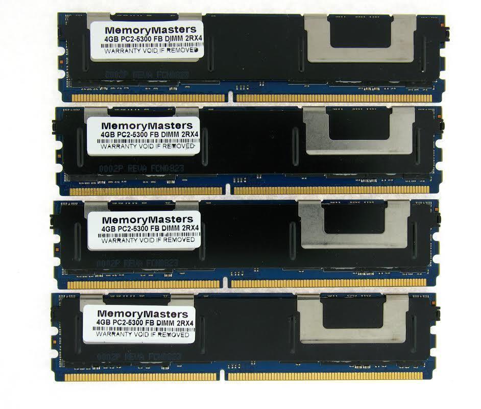 16GB 4X4GB KIT DELL FBDIMM PowerEdge 2900 M600 2950 III 2900 R900 RAM MEM