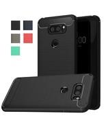 LG V30 Case, LG V30 Plus Case, Dretal Carbon Fiber Shock Resistant Brush... - $12.24