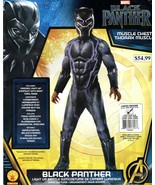 Black Panther Muscle Chest Deluxe Costume Light-Up L 12-14 - $39.59