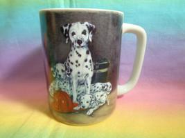 Otagiri Japan Firehouse Dalmatian Fireman Helmet Coffee Mug Cup Linda Picken  - $9.89