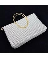 Vintage Bags By Marlo Handbag Evening Purse Off-White Metal Mesh Chain - £46.78 GBP