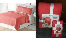 $130 Home Classics Coastal Living Coral Quilt-Beach Bed Spread &1 Sham Twin Set  - $67.70