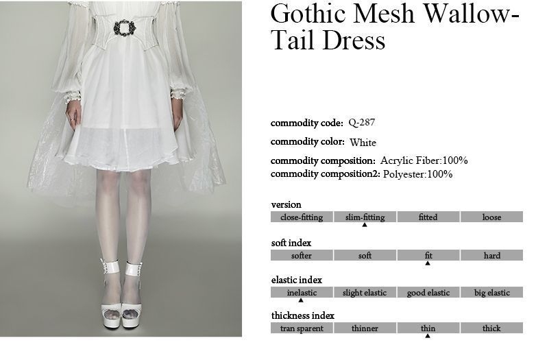New Punk Rave Rock Gothic Skirt Swallow Tail Bustle Q287 White AUSTRALIAN STOCK!