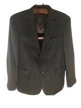 Tommy Hilfiger Tweed Suede Elbow Patch Sport Coat Jacket Blazer Brown Wo... - $87.30