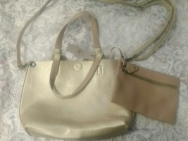 Reversible Bag GH Bass & Company Beige Gold 1215 New NWT - 2 bags in 1 -... - $14.04