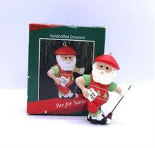 Hallmark PAR for SANTA 1988 Christmas Keepsake Ornament in Box Golfer St... - $9.79