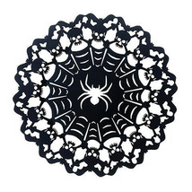 Darice Halloween Spider Charger Plate: Metal, Black, 12.88 inches w - $8.99