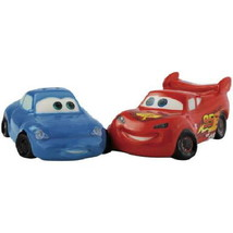 Disney's Cars Lightning McQueen & Sally Ceramic Salt and Pepper Shakers Set NEW - $26.11