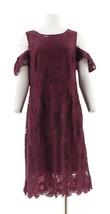 Isaac Mizrahi Lace Flutter Slv Sheath Dress DarkBerry 8 NEW A297952 - $70.27